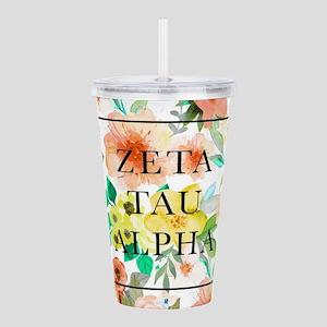 Zeta Tau Alpha Floral Acrylic Double-wall Tumbler