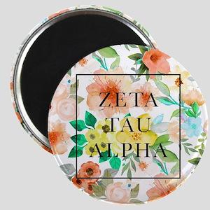 Zeta Tau Alpha Floral FB Magnet