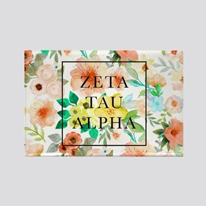Zeta Tau Alpha Floral FB Rectangle Magnet