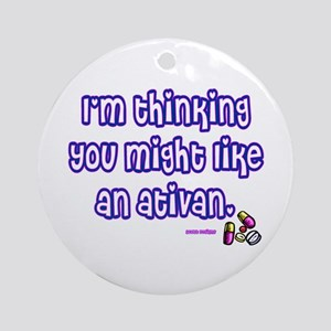 Ativan Ornament (Round)