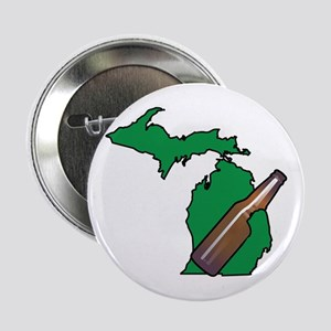 "Michigan Beer 2.25"" Button"