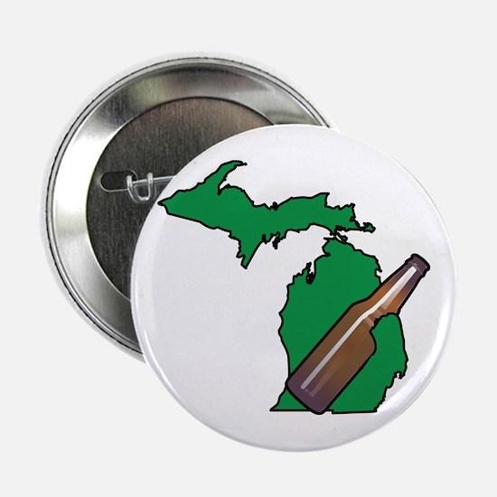 "Michigan Beer 2.25"" Button"