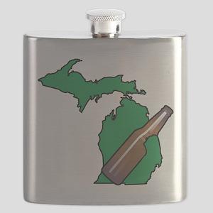 Michigan Beer Flask