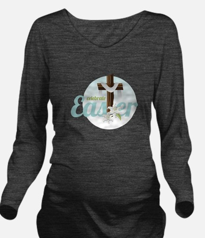 Celebrate Easter Long Sleeve Maternity T-Shirt