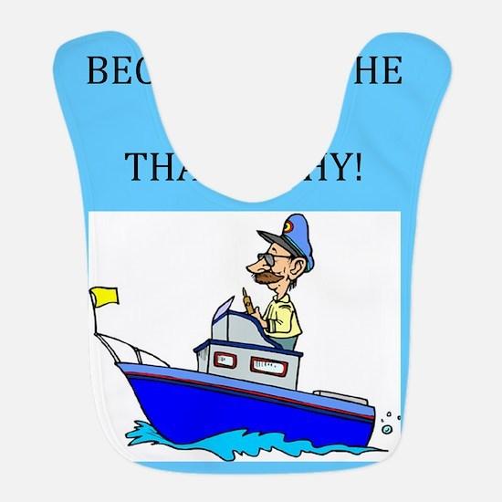 funny jokes sports captain boat boating Bib