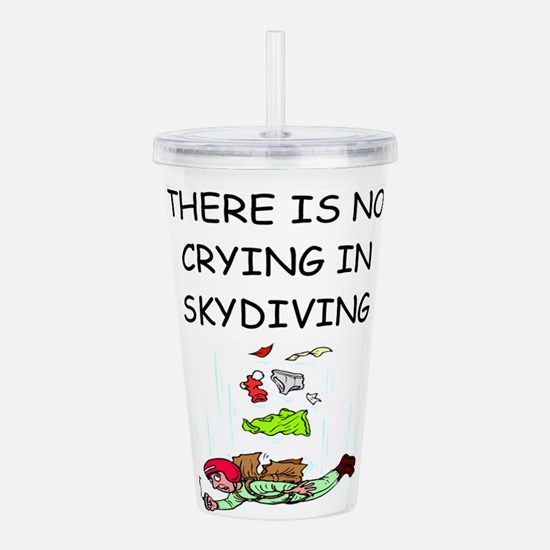 skydiving gifts Acrylic Double-wall Tumbler