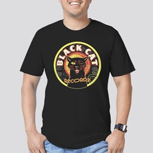 Black Cat Records Lp A Men's Fitted T-Shirt (dark)
