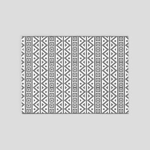 Elegant White Grey Vintage Style 5'x7'area Rug