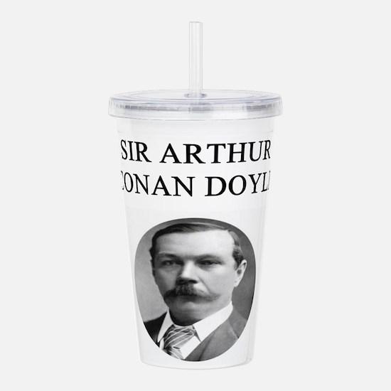 sir arthur conn doyle Acrylic Double-wall Tumbler