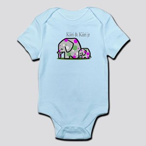 Cute Elephants (1) Infant Bodysuit
