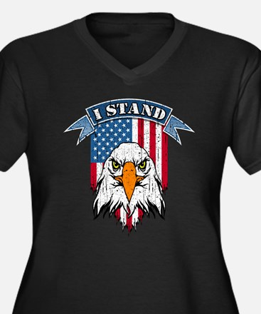 I Stand for the Flag Plus Size T-Shirt