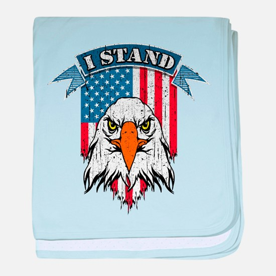 I Stand for the Flag baby blanket