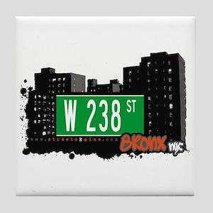 W 238 ST, Bronx, NYC Tile Coaster