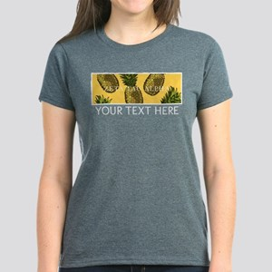 Zeta Tau Alpha Pinapples Women's Dark T-Shirt