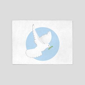 Religious Dove 5'x7'Area Rug