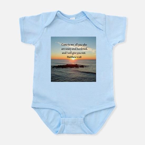 MATTHEW 11:28 Infant Bodysuit