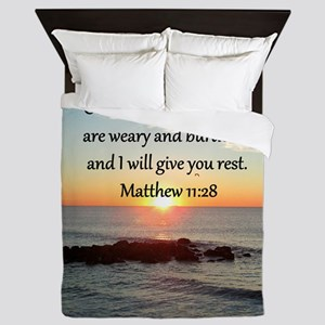 MATTHEW 11:28 Queen Duvet