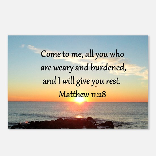 MATTHEW 11:28 Postcards (Package of 8)
