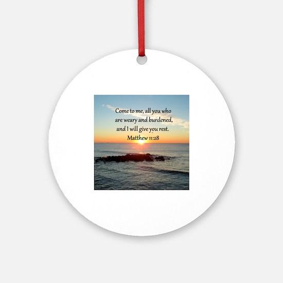 MATTHEW 11:28 Ornament (Round)
