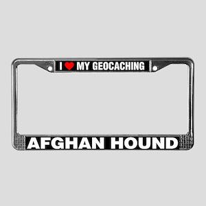 I Love My GeoCaching Afghan Hound