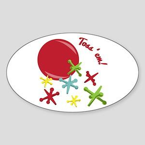 Toss'em! Sticker