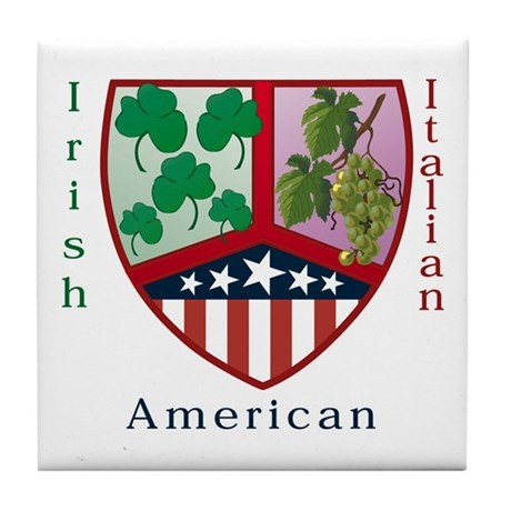 Irish Italian American Tile Coaster