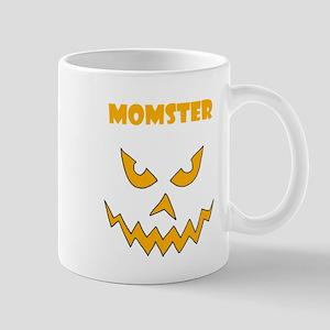 Funny Momster Halloween Pumpkin Mugs
