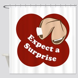 Expect A Surprise Shower Curtain
