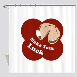Make Your Luck Shower Curtain