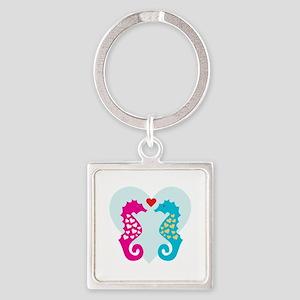 Seahorse Love Keychains