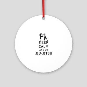 Keep Calm and Do Jiu-Jitsu Ornament (Round)