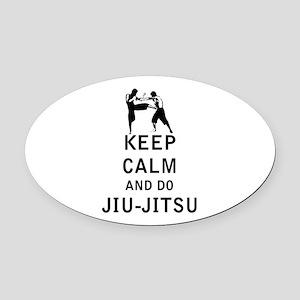 Keep Calm and Do Jiu-Jitsu Oval Car Magnet