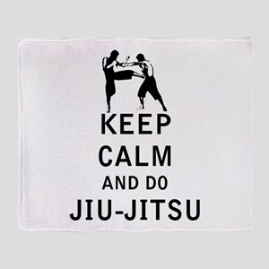 Keep Calm and Do Jiu-Jitsu Throw Blanket