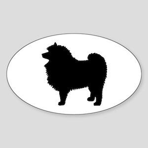 Keeshond Dog Breed Oval Sticker