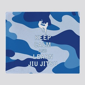 Keep Calm and Learn Jiu Jitsu Throw Blanket