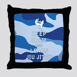 Keep Calm and Learn Jiu Jitsu Throw Pillow