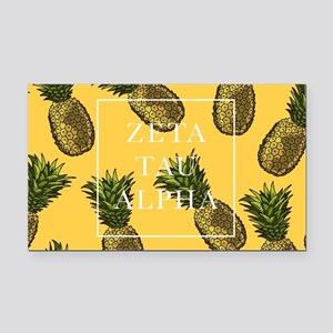 Zeta Tau Alpha Pinapples FB Rectangle Car Magnet