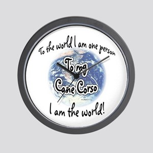 Cane Corso World2 Wall Clock