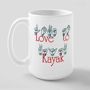 Love to Kayak Large Mug