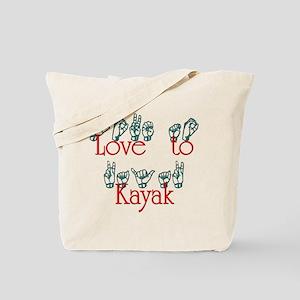 Love to Kayak Tote Bag