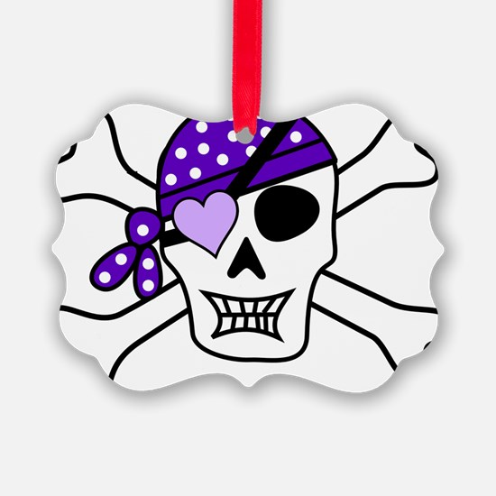 Purple Pirate Crossbones Ornament