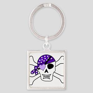 Purple Pirate Crossbones Keychains