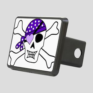 Purple Pirate Crossbones Hitch Cover