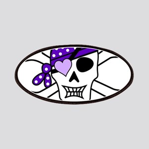 Purple Pirate Crossbones Patches