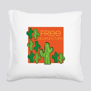 Free Acupuncture Square Canvas Pillow