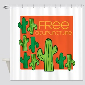 Free Acupuncture Shower Curtain
