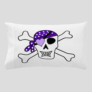 Purple Pirate Crossbones Pillow Case