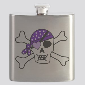 Purple Pirate Crossbones Flask