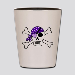Purple Pirate Crossbones Shot Glass