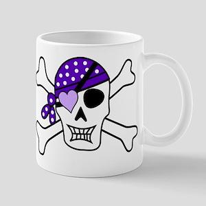 Purple Pirate Crossbones Mugs